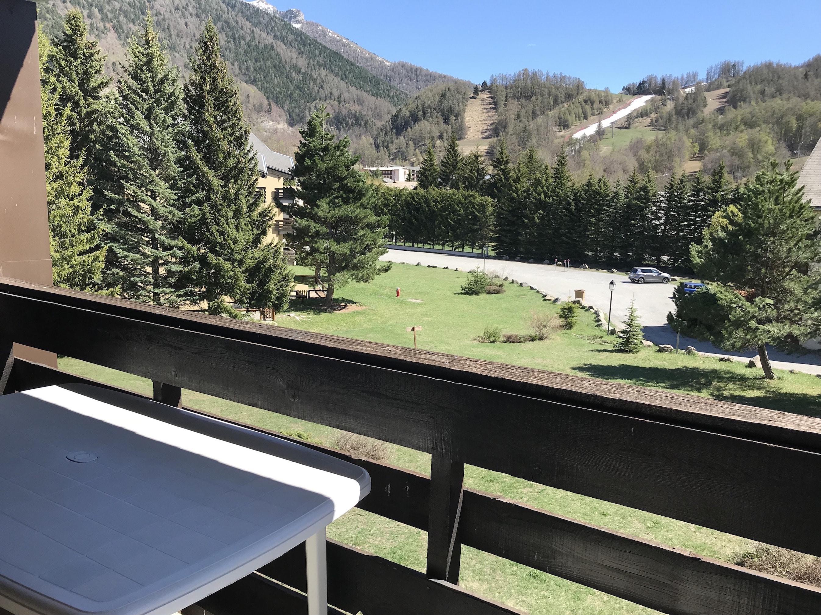 balcon - ANCELLE STUDIO AVEC COIN MONTAGNE 30 M2 (4 couchages)