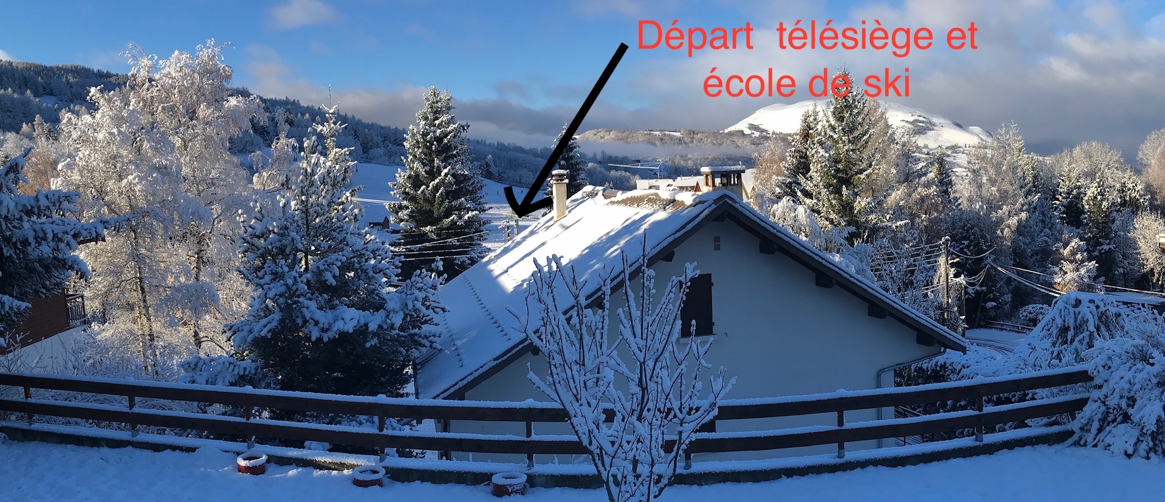 terrasse et departs - ANCELLE À 50 mètres des pistes de ski, Grand T2/3 (5 personnes) de 42m2 en RDC d'un chalet
