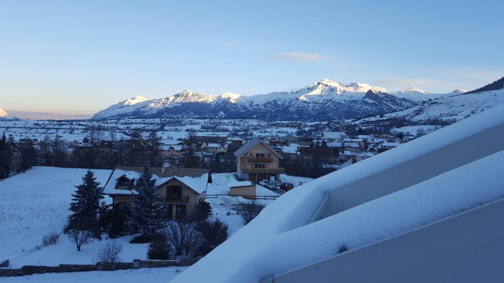 ayme vue terrasse neige - ANCELLE T2 DUPLEX AVEC TERRASSE (5 personnes)