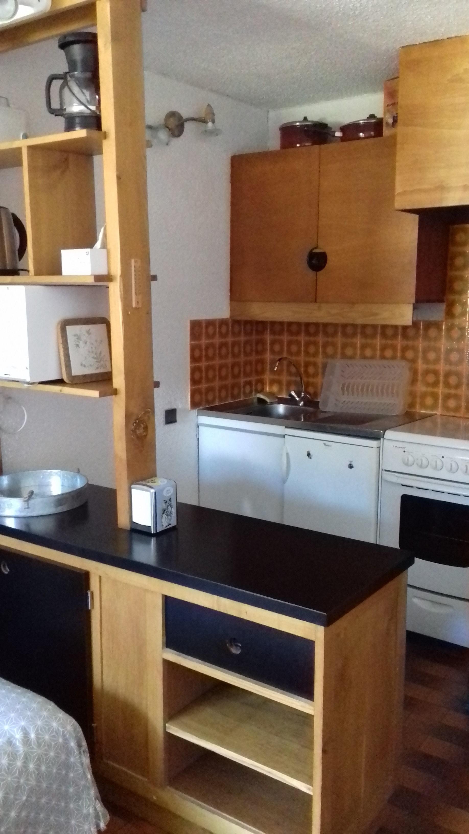 loiseau coin cuisine - ANCELLE STUDIO MONTAGNE 28 m2 (4/6 couchages)