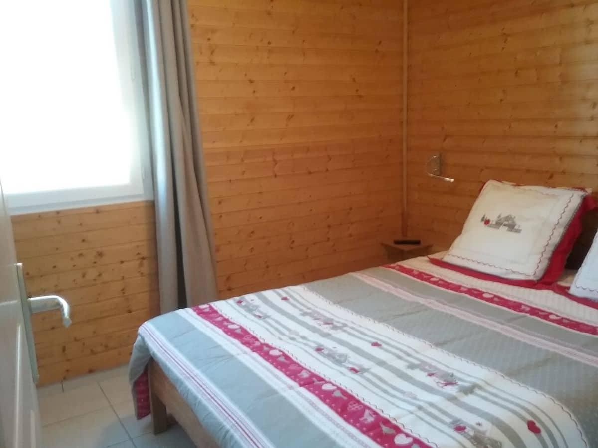 chambre 2 - ANCELLE T3 DE 47m² EN REZ-DE-CHAUSSEE (5 COUCHAGES) A PROXIMITE DES PISTES DE SKI